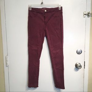 American Eagle Outfitters Maroon Extreme Legging